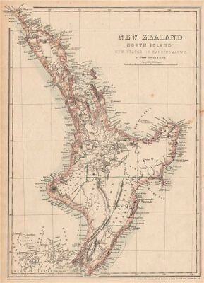 'New Zealand North Island. New Ulster or Eaheinomauwe' provinces DOWER 1862 map