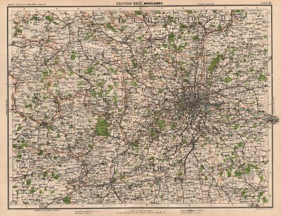 LONDON ENVIRONS, CHILTERNS & THAMES VALLEY. Home counties. Surrey Hills 1898 map