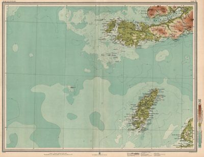 COLONSAY & ROSS OF MULL. Iona Oronsay Loch Scridain Ardmeanach. LARGE 1912 map