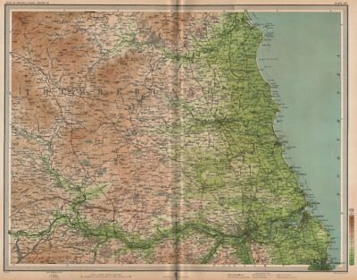 NORTHUMBERLAND. Newcastle-upon-Tyne Morpeth Sunderland Hexham. LARGE 1903 map