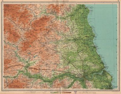 NORTHUMBERLAND. Newcastle-upon-Tyne Morpeth Sunderland Hexham. LARGE 1939 map