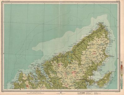 LEWIS Western Isles Outer Hebrides Stornoway. Scotland. LARGE 1912 old map