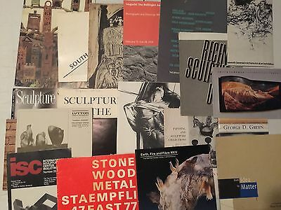 LOT OF GALLERY CATALOGUES collection of 20 ~ SCULPTURES & PAINTINGS 1954-2003