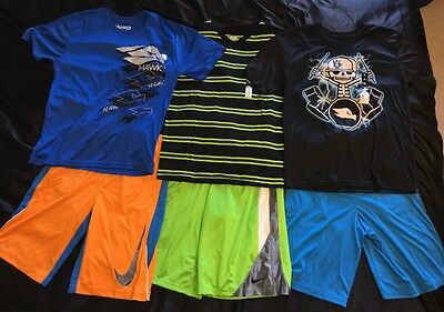 Boys NWT XL 18/20 Nike Basketball Athletic Wear Shorts Shirt Tony Hawk Dri Fit