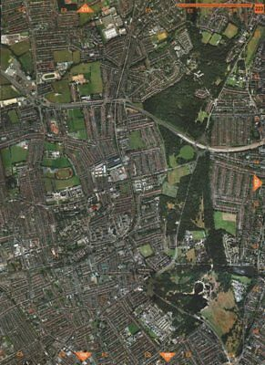 WALTHAMSTOW E17 E4 E18 E11.Hill End Epping Forest Woodford Whipps Cross 2000 map