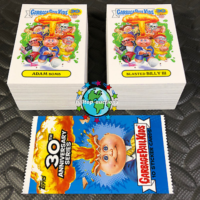 GARBAGE PAIL KIDS 30th ANNIVERSARY COMPLETE 220-CARD SET +WRAPPER 2015 free-ship