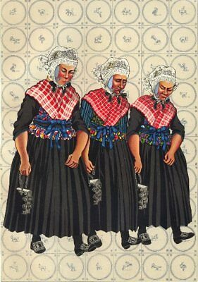 NETHERLANDS. Sunday Costume at Staphorst And Rouveen 1932 old vintage print