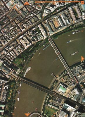 COVENT GARDEN WC2 SE1. Aldwych Waterloo Bridge Charing-Cross South Bank 2000 map