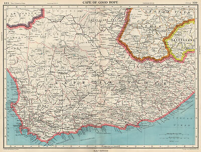 CAPE OF GOOD HOPE. Cape Province. South Africa. BARTHOLOMEW 1952 old map