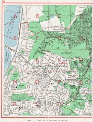 CHINGFORD. Sewardstonebury Epping Forest Friday Hill. Essex 1964 old map