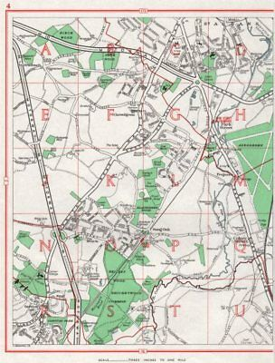 CHISWELL GREEN.St Albans Park Street Bricket Wood Garston Colney Street 1964 map