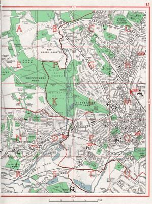WATFORD WEST.+ North & Junction.Croxley Green.The Grove.HERTFORDSHIRE 1964 map