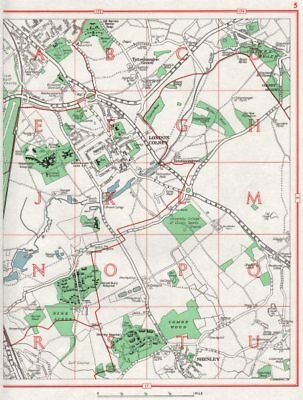 LONDON COLNEY. St Albans Shenley Tyttenhanger Green Colney Heath. Herts 1964 map
