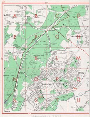 LOUGHTON. Theydon Bois Debden Green High Beach. Essex 1964 old vintage map