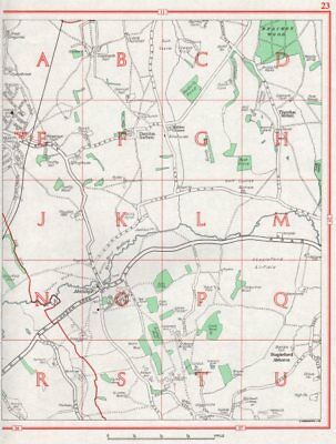ESSEX. Abridge Stapleford Abbotts Theydon Mount Garnon Theydon 1964 old map