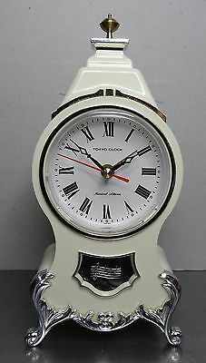 Mechanische Uhr Spieluhr Wecker Musikuhr musical alarm clock made in Japan 70er