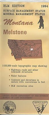 USGS BLM edition topographic map Montana MELSTONE 1994 mineral  - bad