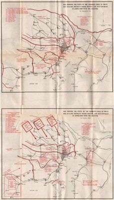 GREAT KANTO EARTHQUAKE 1923. Areas subject to Martial Law. Japan Tokyo 1926 map