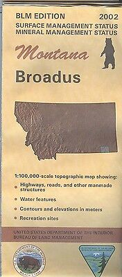 USGS BLM edition topographic map Montana BROADUS 2002 mineral