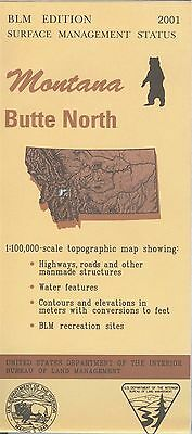 USGS BLM edition topographic map Montana BUTTE NORTH 2001