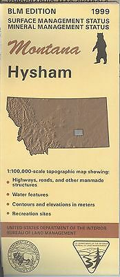 USGS BLM edition topographic map Montana HYSHAM 1999 mineral