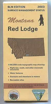 USGS BLM edition topographic map Montana RED LODGE 2003