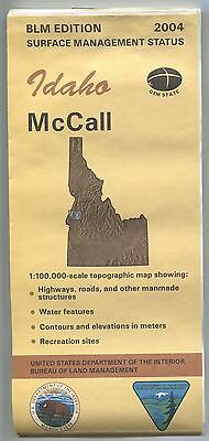 US BLM edition topographic map metric - Idaho McCALL - 2004