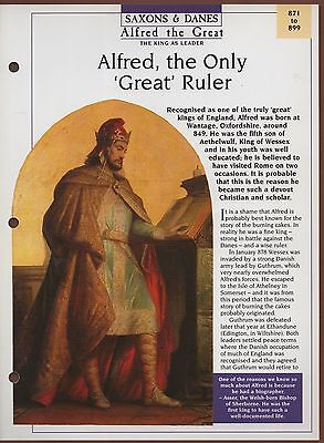 Alfred, The Only Great Ruler - The K - Saxons & Danes - Kings & Queens Maxi Card