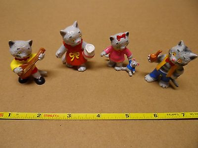 Vintage Ida Bohatta Bully Cat Figures from West Germany from 1980s set of 4