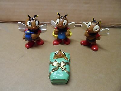 Vintage Bully Bee Figures from West Germany from 1980s set of 4