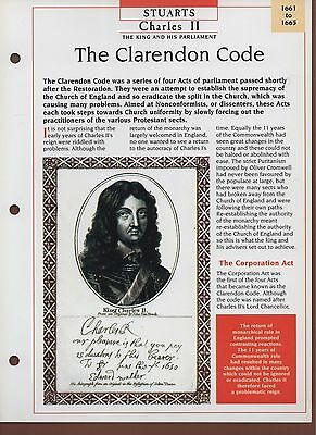 The Clarendon Code - Charles II - Stuarts - Kings & Queens Maxi Card