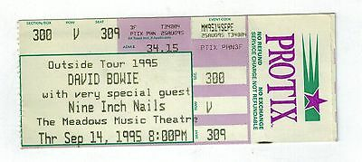 david bowie nine inch nails ticket stub meadows music theatre  sep. 14, 1995