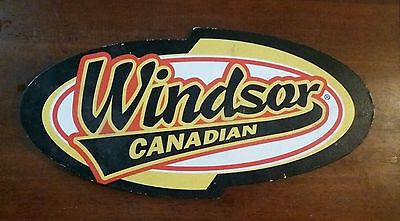 Windsor Canadian Whiskey Sign Bright Colorful VGC UNIQUE & RARE WONDER WALL ART
