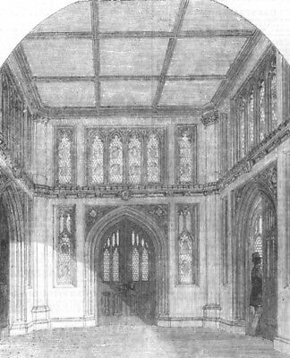 PALACE OF WESTMINSTER. Vestibule to the Library of the House of Commons, 1857