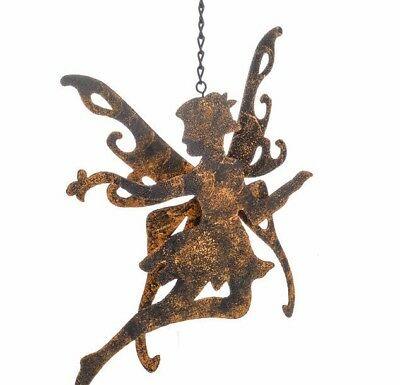 Hanging Metal Garden Fairy Faries Plaques Shabby Chic Stunning In Hung Trees