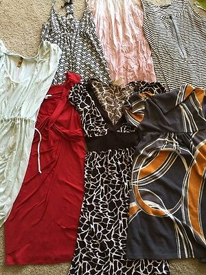 Lot of 7 Women's/Juniors Dresses Size Medium/Large Black & White & Red/Pink