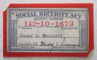 1936 Social Security Card
