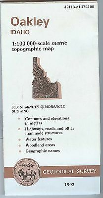 US Geological Survey topographic map metric OAKLEY Idaho 1993