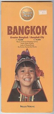 Nelles Maps BANGKOK area -  double-sided - Printed in Germany