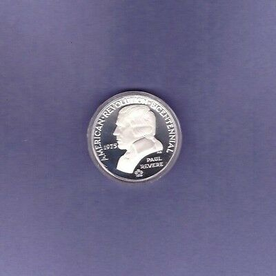 1975 Bicentennial Medal Commemorating The Battles Of Lexington & Concord -Silver