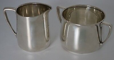Tiffany & Co. Art Deco Sterling Silver Sugar & Creamer Set 1907-1947