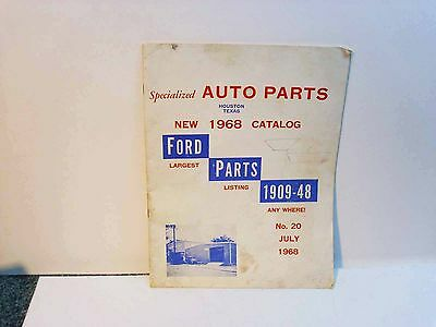 Specialized Auto Parts New 1968 Catalog