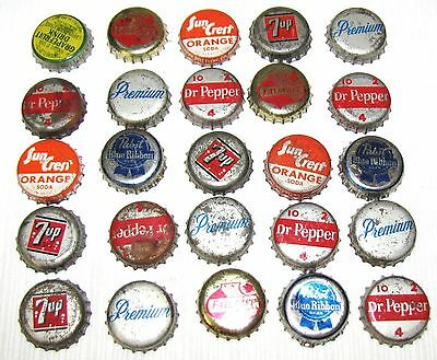 25--Vintage--Bottle Caps--B--Some Beer And Some Soda--A Few Cork Back