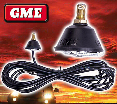 Gme Fiberglass Am / Fm Radio Antenna Aerial Replacement Base + 5 Metre Lead Only