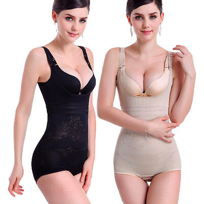 Womens Full Body Shapewear Slim Waist Croset Cincher Tummy Underwear Bodysuit
