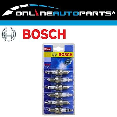 Set of 6 Bosch Platinum Spark Plugs for VT Commodore 6cyl V6 S/Charge 3.8L 97~00