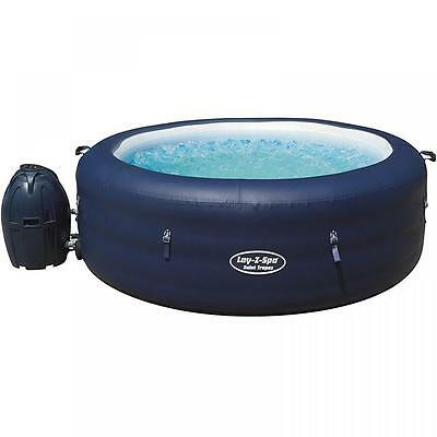 Lay Z Spa Saint Tropez Inflatable Portable Family Led Hot Tub Jacuzzi 4-6 Person
