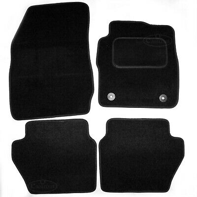 Ford Fiesta Mk8 2011 onwards Tailored Carpet Car Mats Black 4pc Floor set