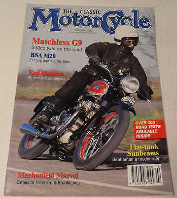 Classic MC Feb 93: Ariel Red Hunter,M20,Matchless G9,Excelsior Mechanical Marvel