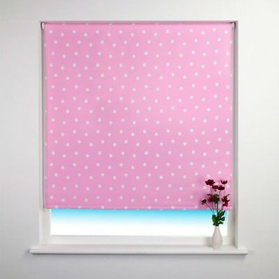 Sunlover THERMAL BLACKOUT Roller Blinds. Amelie Spot Pink. Sizes 60 or 90cm